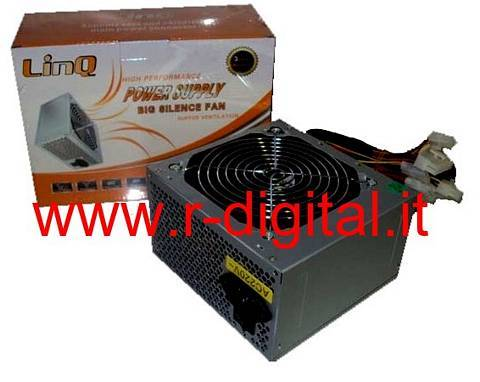 ALIMENTATORE PC LINQ ATX 450 WATT 24Pin 12Cm FAN SATA PCI