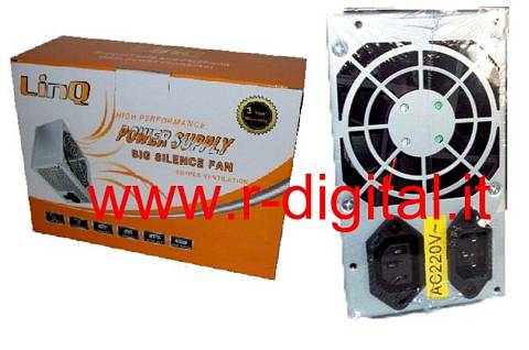 ALIMENTATORE PC LINQ ATX 450 WATT 24Pin 8Cm FAN SATA PCI