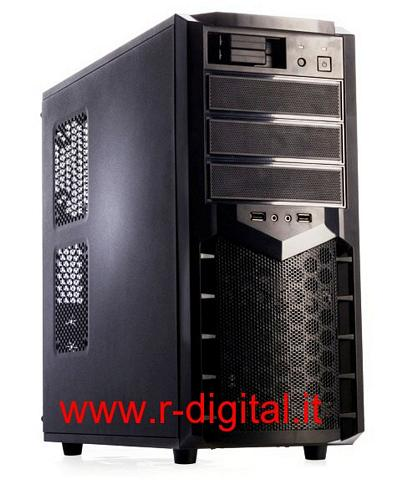 CASE ITEK PEARL GAMING MIDDLE TOWER MODDING USB NERO PANEL