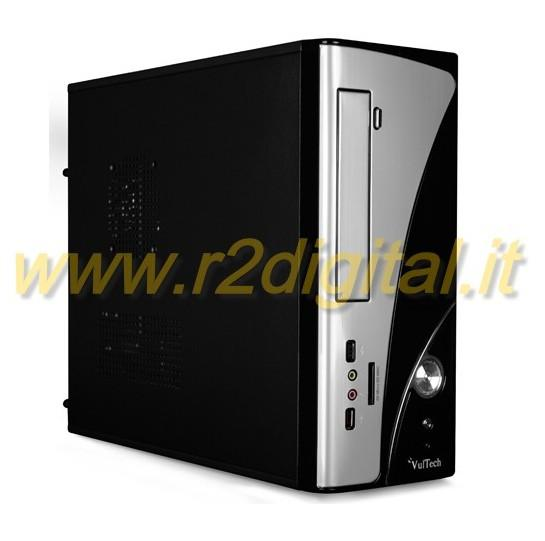 CASE VULTECH MINI ATX ALIMENTATORE 500W CARD READER TOWER MINI