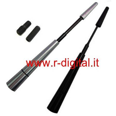 ANTENNA TUNING MINI TELESCOPICA RADIO NERO SILVER BLU