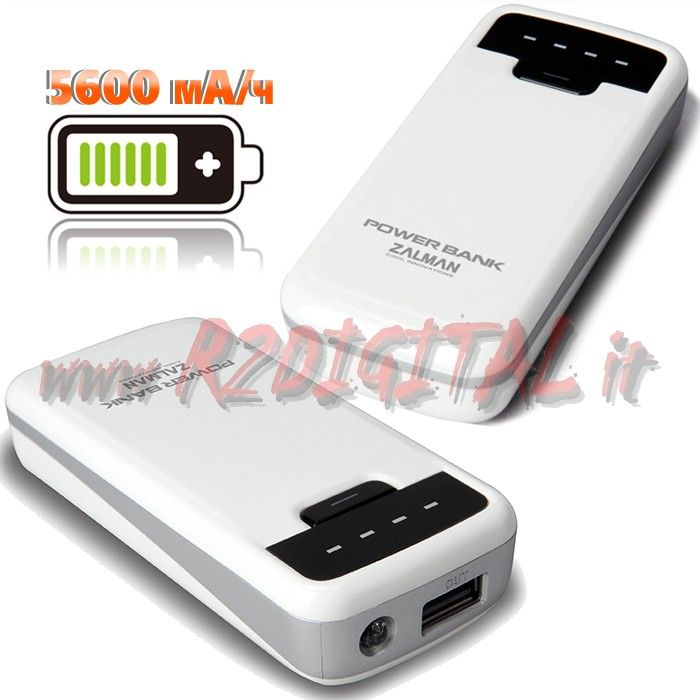 BATTERIA ZALMAN PB56IW 5600mA EMERGENZA POWER BANK APPLE SAMSUNG