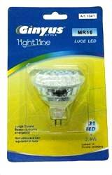 LAMPADA MR16 GU5,3 DICROICA 60 LED 12V LUCE FARETTO FREDDA MR 16
