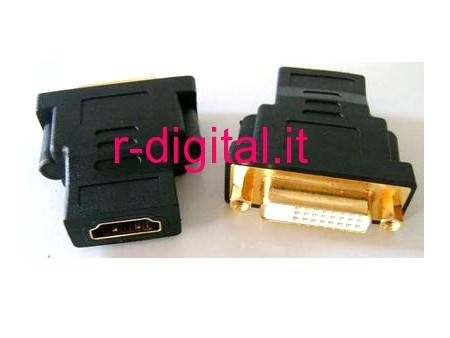 CONVERTITORE DVI FEMMINA a HDMI FEMMINA F/F GOLD BULK MONITOR