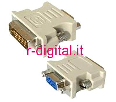 CONVERTER DVI to VGA MALE FEMALE M / F BULK MONITOR