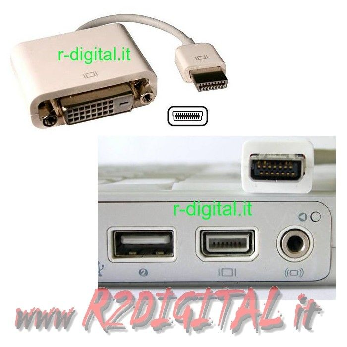 CONVERTITORE MICRO DVI / DVI 24+1 FEMMINA M/F MONITOR APPLE MAC
