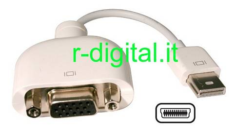 CONVERTITORE MICRO DVI / VGA 15pin FEMMINA M/F MONITOR APPLE MAC