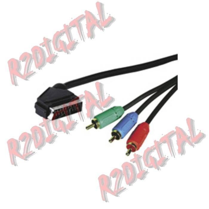 CONVERTER HDMI to RCA MALE RGB GOLD COMPONENT MONITOR BLIST