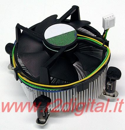 DISSIPATORE V115 CPU INTEL 775 1155 AMD AM3 ALLUMINIO 4PIN PWM