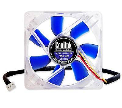 VENTOLA COOLINK SWIF 802 TACHIMETRICA 80x80x25 PC 3 PIN FAN