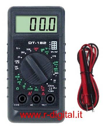MULTIMETRO DIGITALE MINI TASCABILE CON PUNTALI DISPLAY TESTER