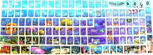 KIT ADESIVI PER TASTIERA KEYBOARD STICKERS PER PC LETTERE
