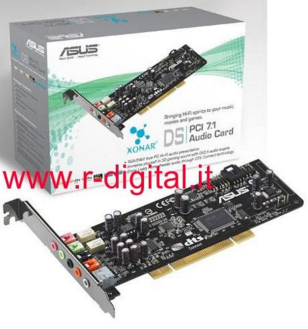 SCHEDA AUDIO ASUS XONAR DS 7.1 PCI 8 CANALI DOLBY SURROUND PC