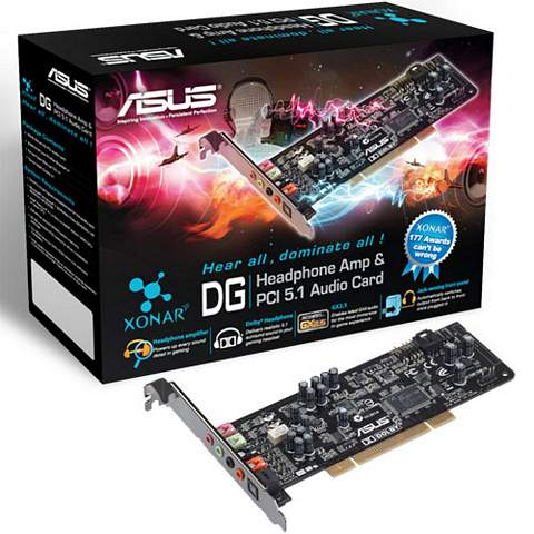 SCHEDA AUDIO ASUS XONAR DG 5.1 PCI 6 CANALI DOLBY SURROUND PC