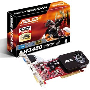 SCHEDA VIDEO ASUS AH3450 512MB AGP ATI HDMI GRAFICA FULL HD