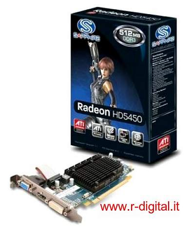 SCHEDA VIDEO ATI SAPPHIRE HD5450 1GB PCI-E GRAFICA VGA DVI