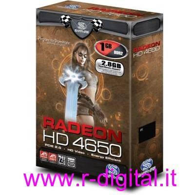 SCHEDA VIDEO ATI SAPPHIRE HD4650 2.8GB HYPER M PCI-E GRAFICA HD