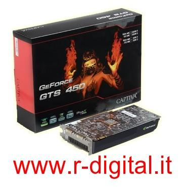 SCHEDA VIDEO CAPTIVA GTS450 1Gb PCI-E 1024M GEFORCE HDMI GRAFICA