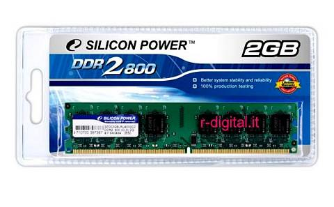 SILICON POWER 2GB DDR2 800MHZ PC2 6400 MEMORIA RAM 240PIN PC