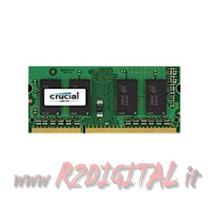 CRUCIAL DDR3 4 GB 1600MHZ MEMORIA RAM SODIMM NOTEBOOK PC3