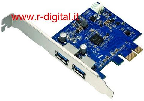 SCHEDA PCI USB 3.0 SUPERSPEED 2 PORTE EXPRESS CARD 5 Gbps HUB