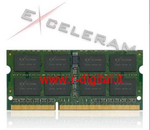 EXCELERAM DDR3 4GB 1333MHZ MEMORIA RAM SODIMM NOTEBOOK PC3