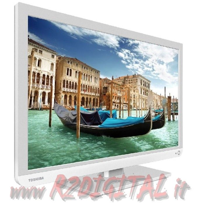 "TV TOSHIBA LED 22"" BIANCA 22L1334 FULL HD DVB-T MONITOR USB HDMI"