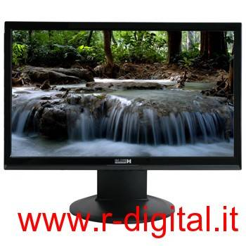 MONITOR LCD BLUEH BLACK 19 POLLICI HD DVI WIDESCREEN PC COMPUTER