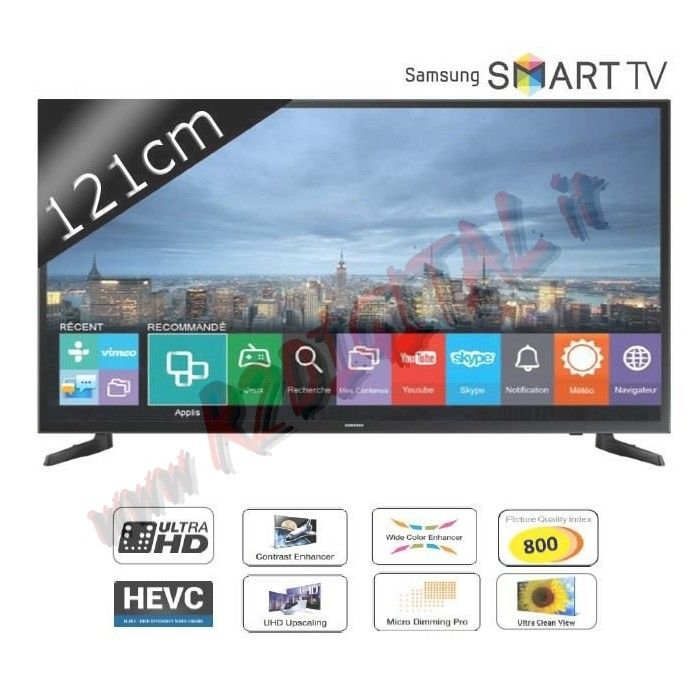 "TV SAMSUNG LED 48"" ULTRA HD SMART UE48JU6400 DVB-T2 USB UHD MKV"