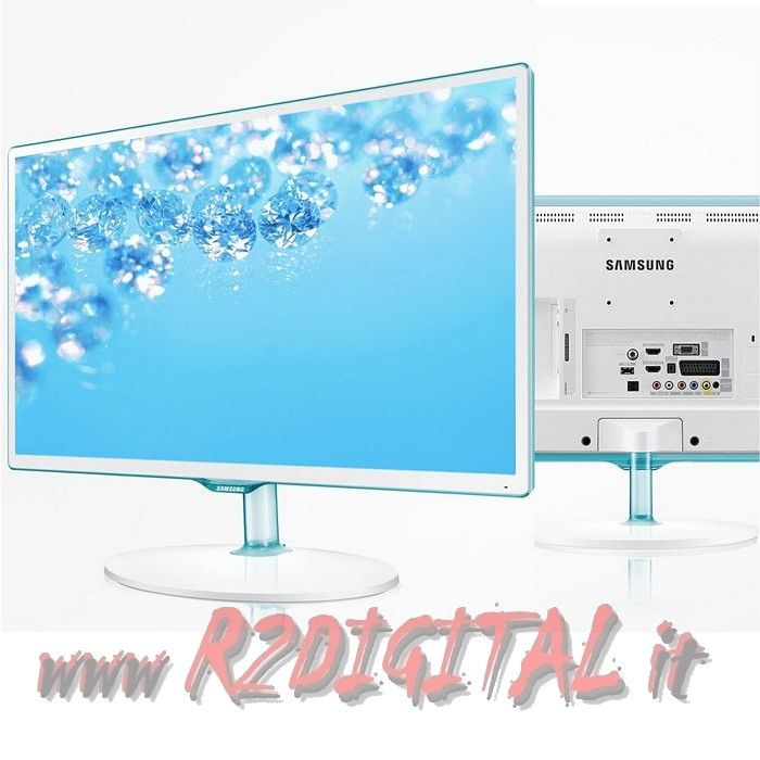 TV SAMSUNG LED 24 T24D391 BIANCO FULL HD DVB MONITOR USB PC HDMI
