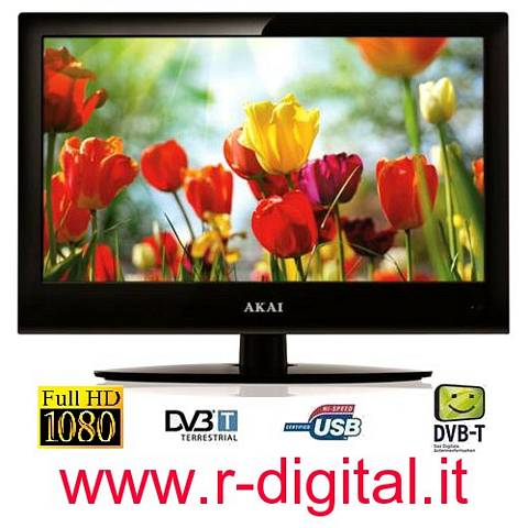 TV AKAI LED 22 FULL HD 1080 DVB-T HDMI PORTA USB DIVX CI SLOT