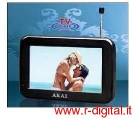 TV AKAI 4,3 LED DIGITALE TERRESTRE DVB-T PORTATILE RICARICABILE
