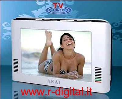 TV AKAI 7 DIGITALE TERRESTRE DVB-T PORTATILE MP4 RICARICABILE