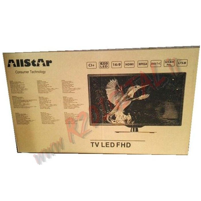 "TV ALL STAR LED 32"" AS32 FULL HD DVB-T USB CI MKV HDMI"