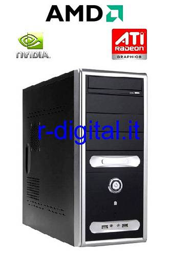 COMPUTER AMD SEMPRON 145 RAM 4Gb HD 500Gb PC FISSO DESKTOP