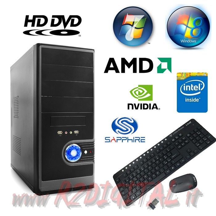 COMPUTER INTEL DUAL CORE G1620 RAM 4Gb HD 1000Gb PC DESKTOP QUAD