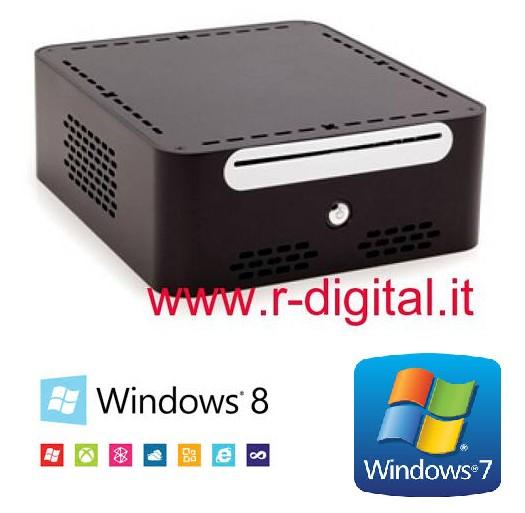 MINI COMPUTER INTEL ITX KIWI DUAL CORE RAM 4G HD 500G PC USB 3.0