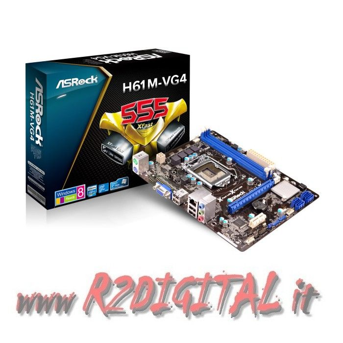 SCHEDA MADRE ASROCK H61M-VG4 INTEL SK 1155 mATX SATA DDR3 VIDEO