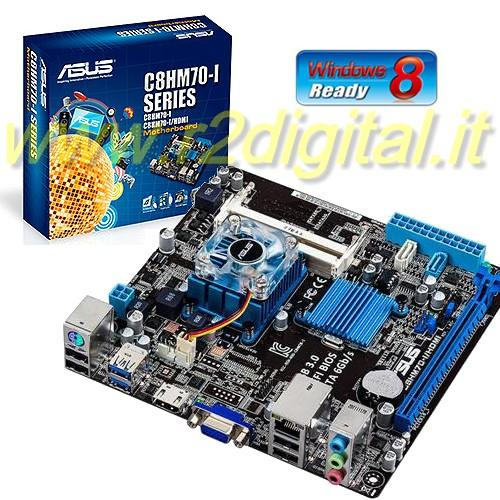 SCHEDA MADRE ASUS C8HM70-I HDMI INTEL MINI ITX DDR3 USB 3.0 CPU