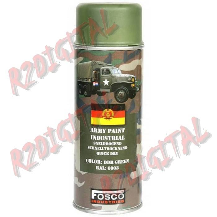 VERNICE ARMI FOSCO SPRAY DDR GREEN 400ML PISTOLA