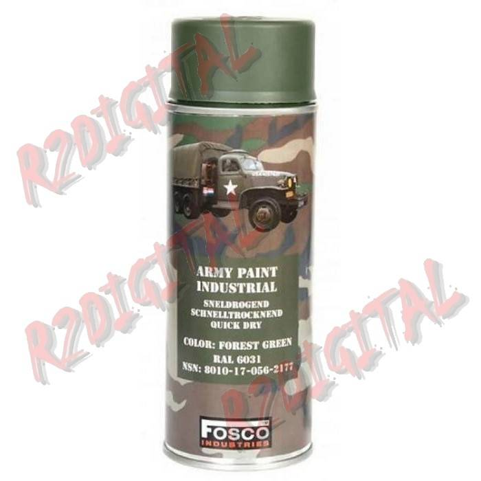 VERNICE ARMI FOSCO SPRAY FOREST GREEN 400ML PISTOLA
