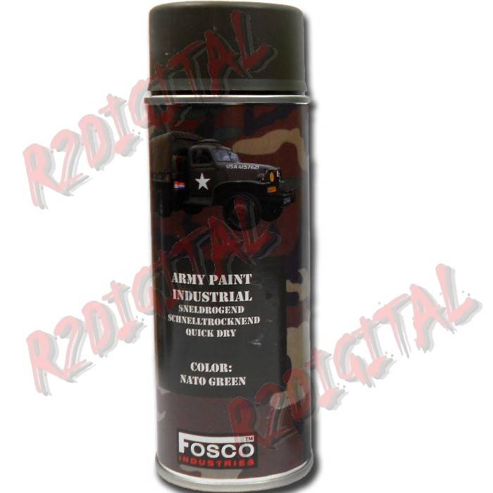 VERNICE ARMI FOSCO SPRAY FLUOR NATO GREEN 469312NG 400ML PISTOLA
