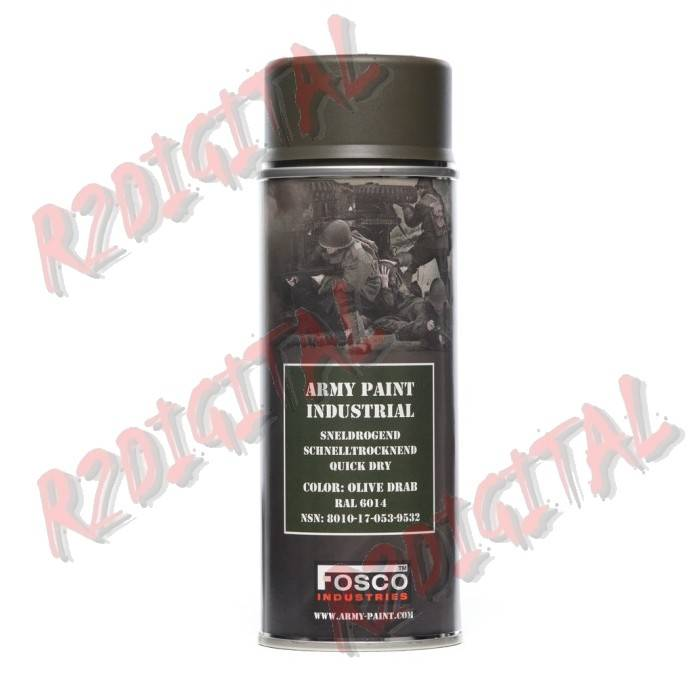VERNICE ARMI FOSCO SPRAY OLIVE DRAB RAL 6014 400ML PISTOLA