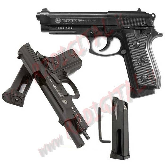 PISTOLA CO2 TAURUS PT99 CYBERGUN 210508 SCARRELLANTE 6mm METAL
