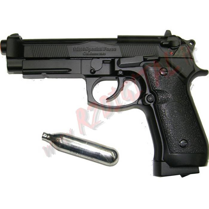 PISTOLA CO2 BERETTA 92 FS NER HFC CO190B SCARRELLANTE 6m SOFTAIR