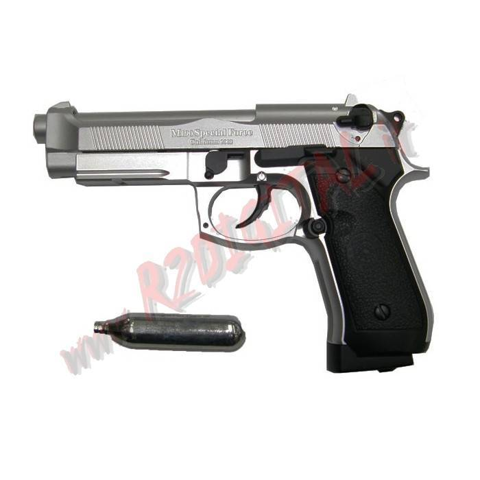 PISTOLA CO2 BERETTA 92 FS SIL HFC CO190S SCARRELLANTE 6m SOFTAIR