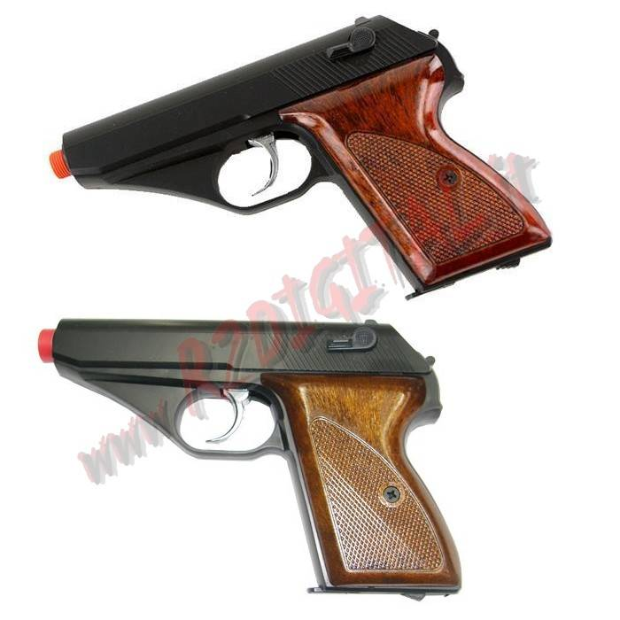 PISTOLA GREEN GAS MAUSER NERA WOOD HFC HG-106B 6mm HOP UP