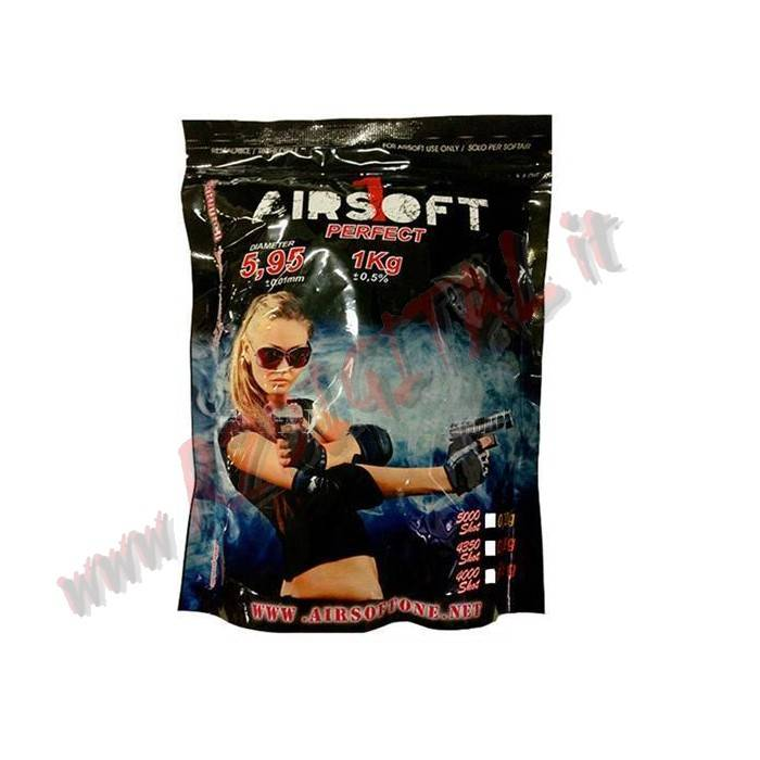 PALLINI BUSTA AIRSOFT ONE 1Kg 5000Pz BB 0.20 PLASTICA 6m SOFTAIR