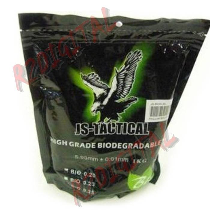 PALLINI BUSTA JS TACTICAL BIO 1Kg 4000Pz BB 0.25 6mm SOFTAIR