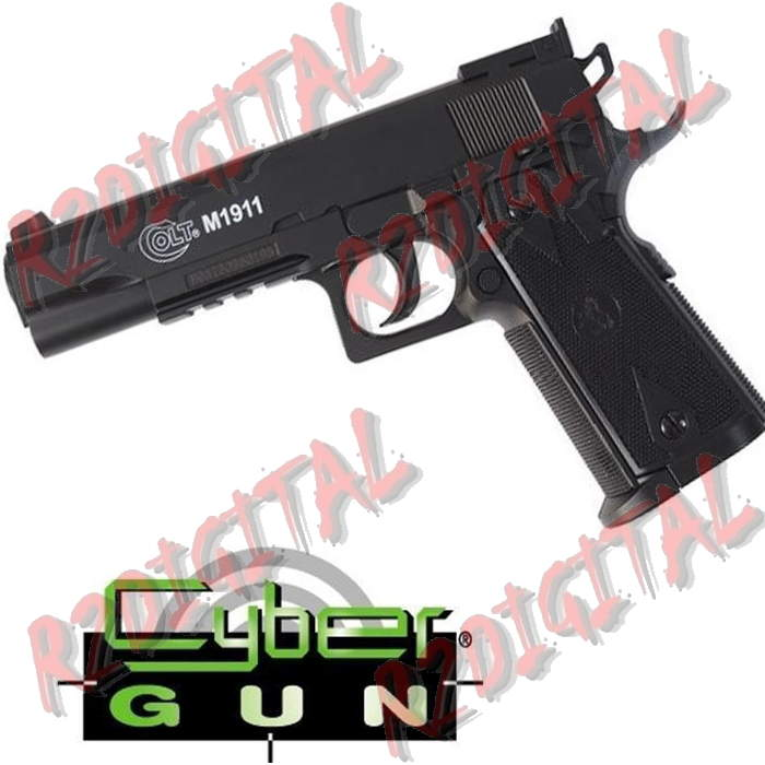 PISTOLA CO2 COLT 1911 CYBERGUN 6mm SOFTAIR
